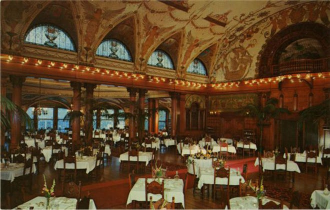 The Hotel Ponce de Leon dining room in 1967. The hotel at 74 King St. was built by Henry M. Flagler and opened in 1888. The hotel was later closed in 1967 and sold to Flagler College.