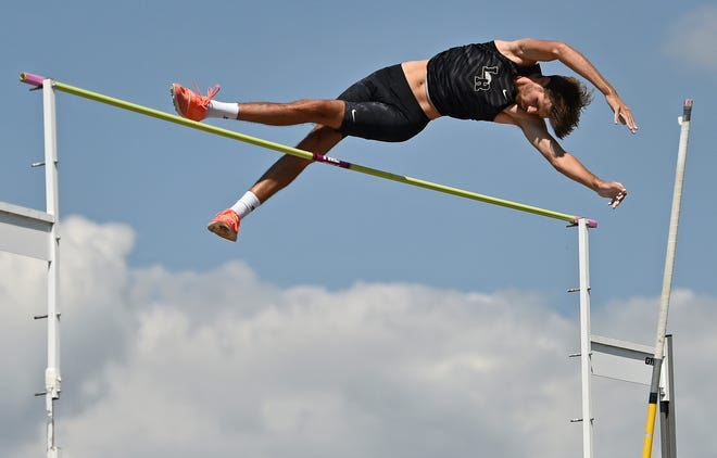 Lakewood Ranch pole vaulter Eli Newman set a school record this season with a jump of 15 feet, 1/4 inch.
