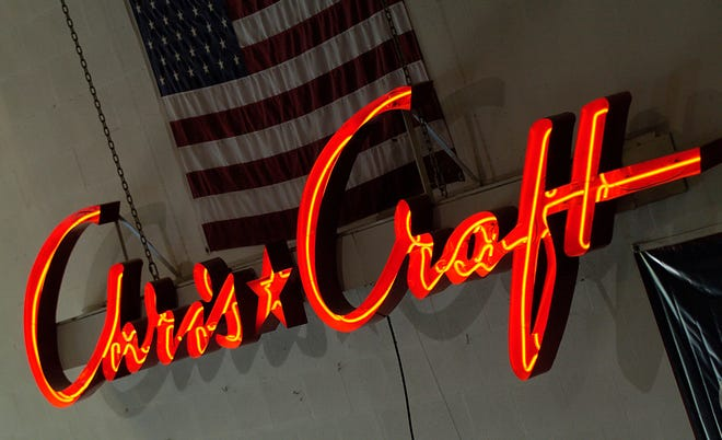 A Chris-Craft neon sign in 2010.