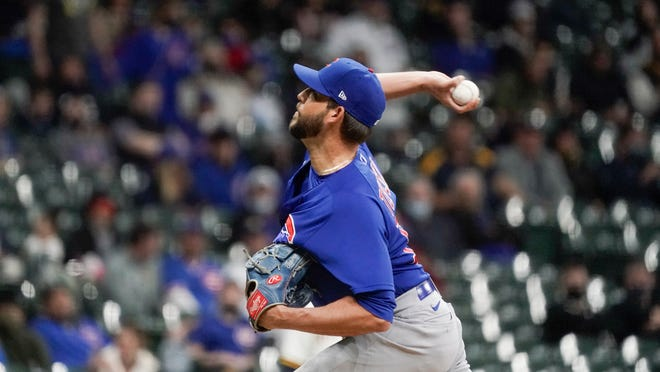 Cubs pitcher Ryan Tepera was suspended for three games on Thursday by Major League Baseball, which concluded he intentionally threw at Milwaukee's Brandon Woodruff this week.