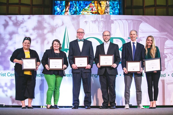 Seven Who Care recognized during OBU Chapel.