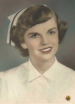 Barb Golby in her 1953 nursing graduation photo.
