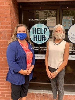 Pictured from left, Susan Boyd, RN, CCLCF Care Manager and Sonja McFarland, Director, Help Hub at the Harrelson Center.