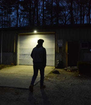 Hayden Bustamante arrives at work at 6 a.m.
