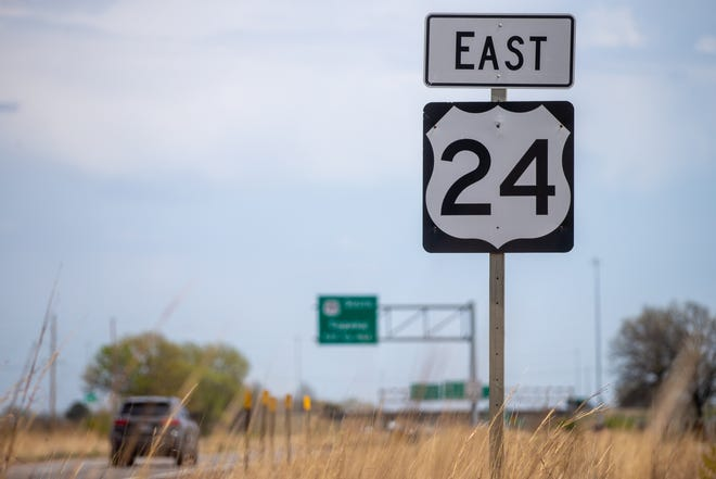 Traffic flows on Highway 24 toward Topeka Thursday afternoon.