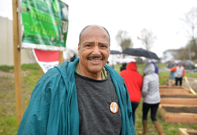 Carl Gomes organized and spear-headed the new community garden across from 3 West Boylston Drive.