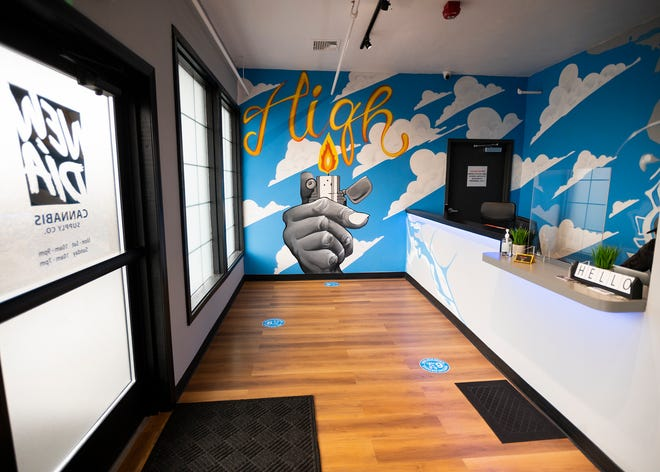 The entryway at New Dia Cannabis Supply Co. in Worcester.