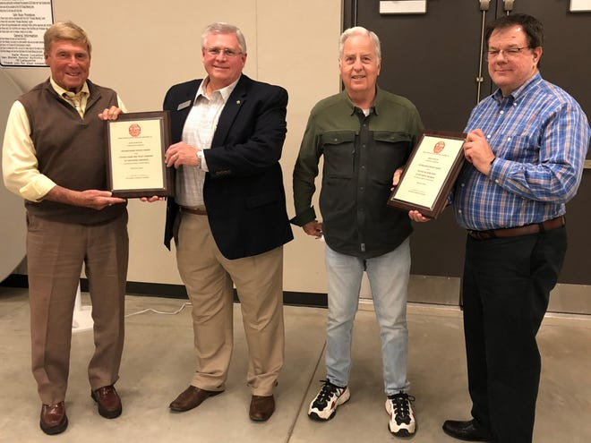 Bill Vines, left, Alan DeFrees, Jesse Lewis and Robin Bean are seen during a recent Crime Stoppers meeting.