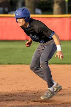 """Tommy Bloebaum, a senior shortstop, third baseman and pitcher, has been leading the Bexley baseball team spring. """"Tommy doesn't say a lot, but when he does say something, (the players) pay attention to him,"""" coach Joe Krabill said."""
