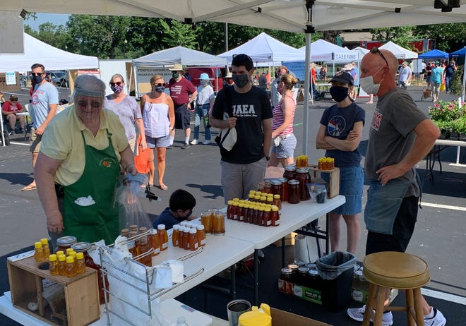 The Worthington Partnership, which plans to return its farmers market to an outdoor setting in the Worthington Historic District beginning May 1, operated the farmers market in a limited capacity throughout 2020.
