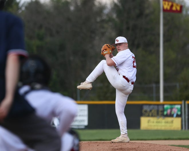 """North's Brennan Albertini is approaching the end of a stellar senior year in which he earned all-state honors in football and wrestling. Baseball coach Sean Ring said Albertini's success """"has meant a lot"""" to his program, Warriors athletics and the entire school."""