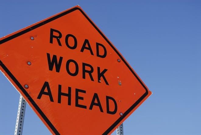 Road Work Ahead.