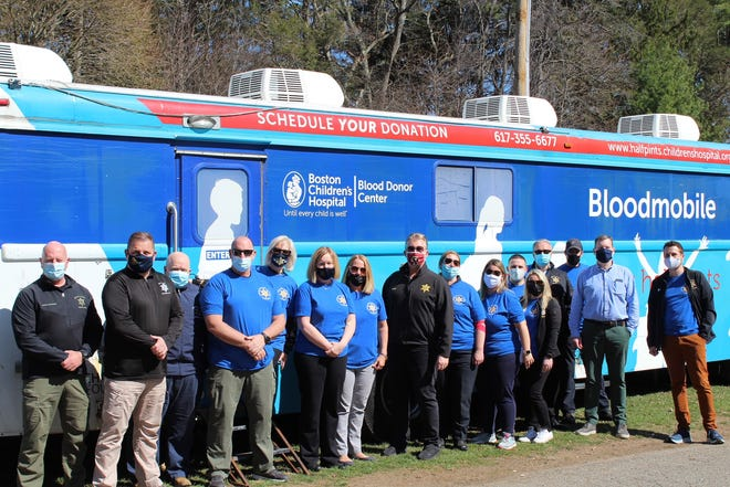 Norfolk County Sheriff's Office at the Braintree blood drive.