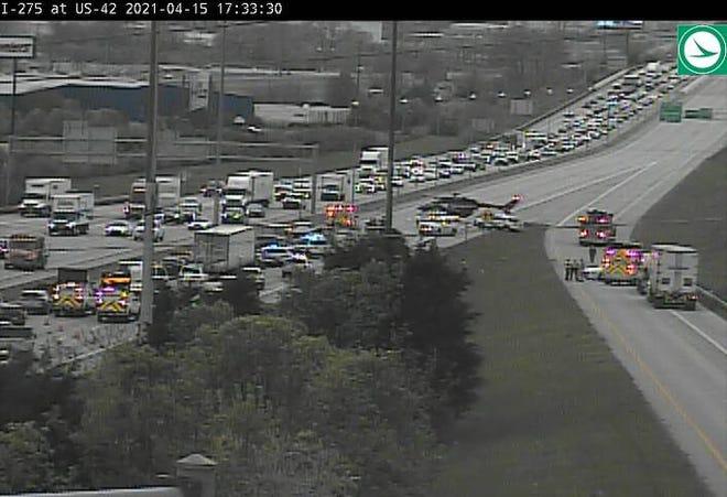 Crash closes I-275 westbound.