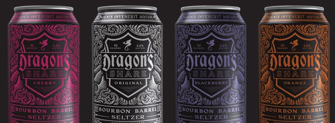 New Holland Brewing introduces Dragon's Share, a line of bourbon barrel seltzers.