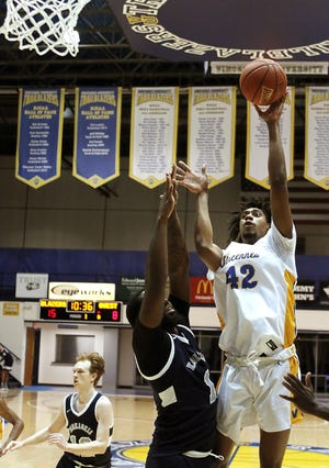 Vincennes University's Justin Archer (42) was named to the all-Region 24 team. He will help the Trailblazers make a record ninth trip to the NJCAA tournament.