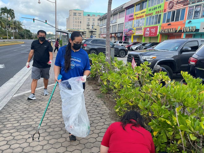 The Pacific Islands Club team completed the cleanup on April 13, 2021, which is part of their ongoing contributions to Guam's beautification efforts. The cleanup started in front of PIC, along Pale San Vitores Road, and stretched to the front of the GVB office at Governor Joseph Flores Memorial Park in Tumon.