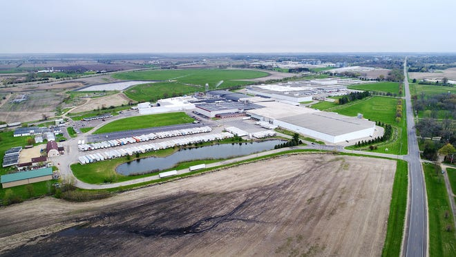 The Birds Eye vegetable processing facility in the town of Darien on May 5, 2020.