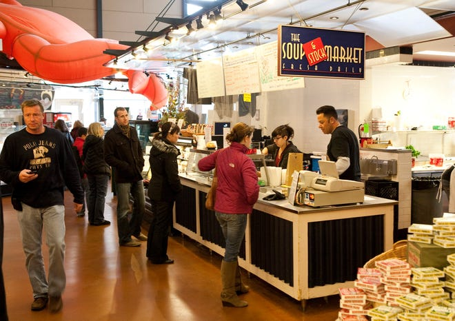 The Soup Market at the Milwaukee Public Market, shown in 2011. One of the original vendors at the Public Market, it will be leaving at the end of June after its lease was not renewed.