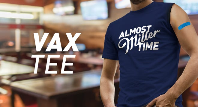 Miller Lite is launching a line of one-sleeved T-shirts for people to wear when they get the COVID-19 vaccine.