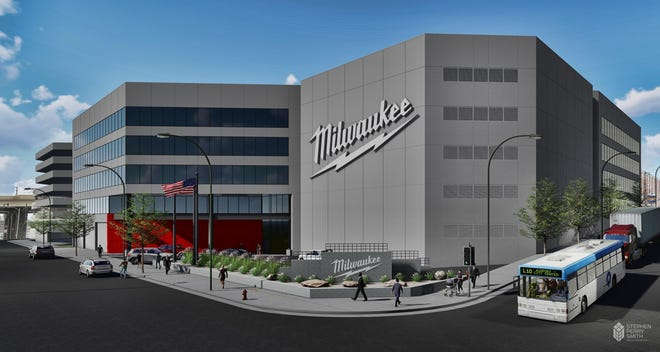 Milwaukee Tool plans to redevelop a vacant five-story building at 501 W. Michigan St. into its downtown office with at least 1,210 employees by the end of 2026. It could eventually have an addition and up to 2,000 employees.