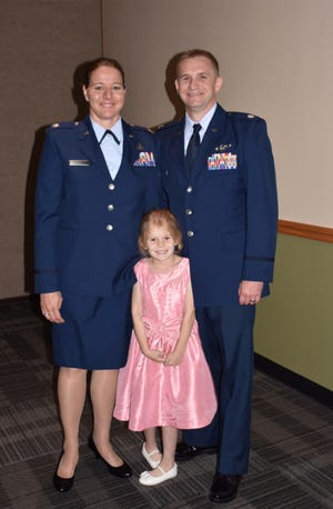 Service members Brian and Andrea Tileston, along with their daughter Paige, are one of dozens of military families in Pike Road Schools. PRS is recognizing Paige and other students of families with military ties during April.