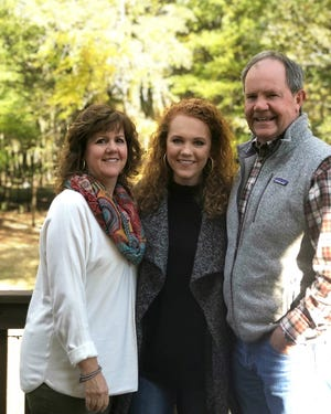 Montgomery City Council candidate Ed Grimes stands with his family in this contributed photo.