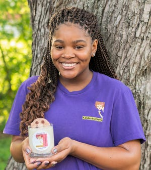 Kierra Perkins, 14, founded Kandles by Kierra at 11 years old in Hermitage, Tenn.