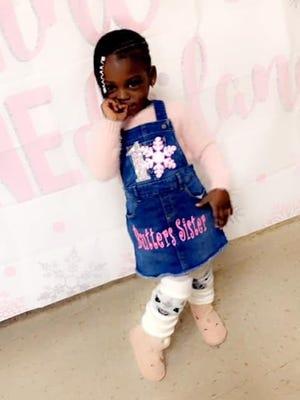 Jamayla Marlowe, age 3.