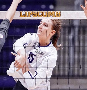 Lipscomb senior Samantha Rubal had a career-high 18 kills in the loss to Georgia Tech in the opening round of the NCAA Tournament.