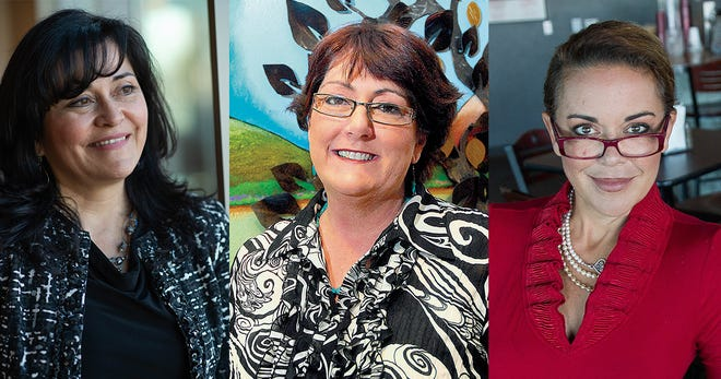 From left, Karen Trujillo, Audrey Hardmann-Hartley and Marci Dickerson were recognized at the Greater Las Cruces Chamber of Commerce Gala and Choice Awards Dinner on Saturday, April 10, 2021. Trujllo and Hardmann-Hartley were awarded posthumously.