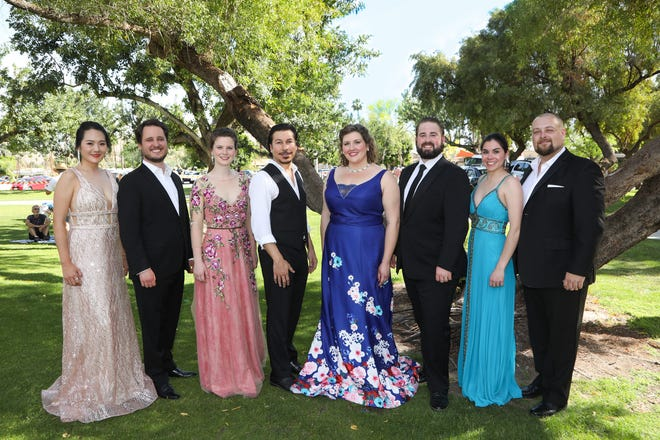 Celebrating more than 50 years, the Palm Springs Opera Guild is dedicated to enriching people's lives through opera music with such programs as Opera in the Park (pictured), Opera in the Schools and its annual vocal competition.