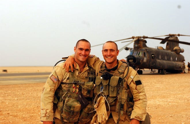 "Pat Tillman (left) and his brother Kevin from Amir Bar-Lev's ""The Tillman Story."""