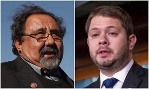 Arizona's U.S. Reps. Raúl Grijalva (left) and Ruben Gallego