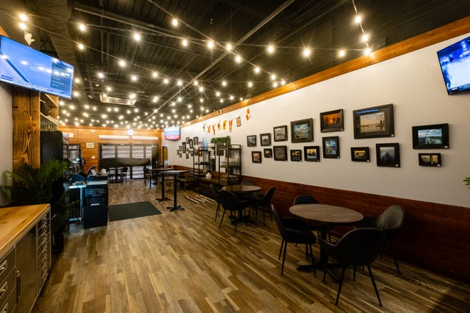 The front seating area at TAP Cafe. The owners hope to have the cafe open later this month.