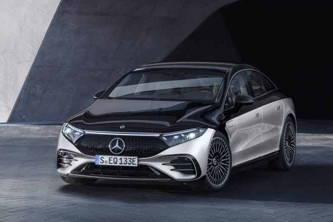 The 2022 Mercedes-Benz EQS is the first electric sedan from the German luxury automotive brand.