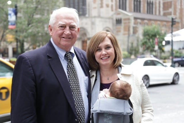 Tanya Washington with her father Carey Alexander Washington when her daughter Izzy, now 5, was an infant.