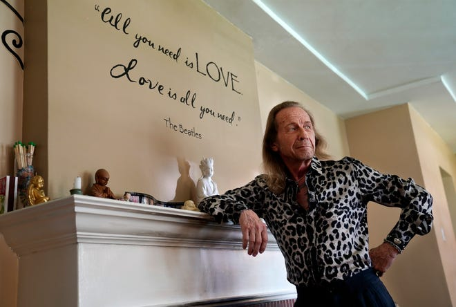 Paul Raci poses for a portrait at his home in Burbank, Calif.