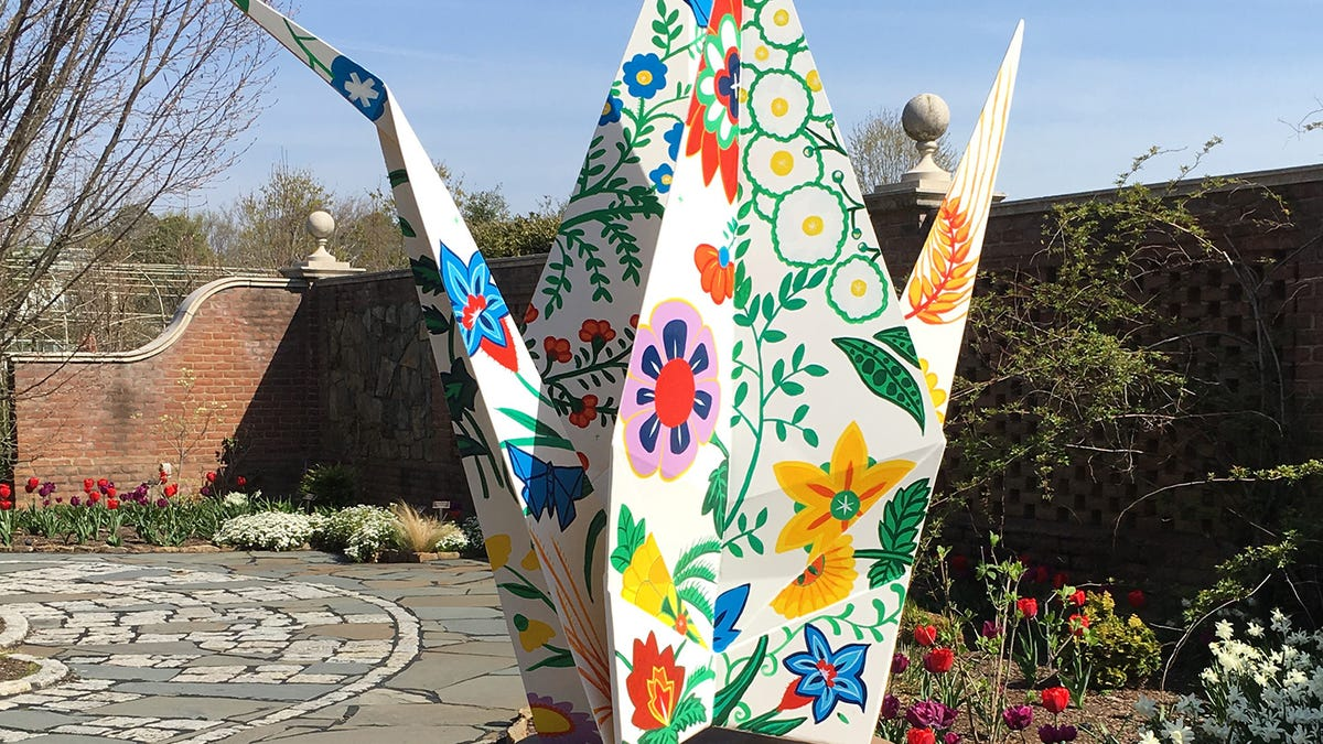 Giant origami-inspired sculptures on display at Reiman Gardens starting May 22