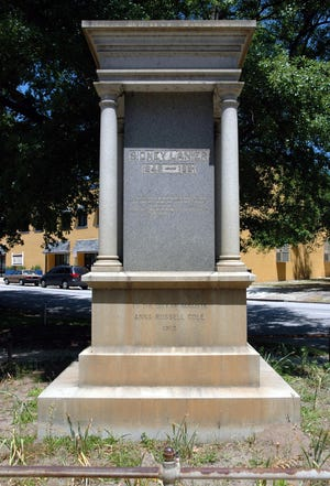 The Poets Monument dedicated to Father Ryan, Paul Hayne, James R. Randall and Sidney Lanier was erected in 1913 in the 700 block of Greene Street in Augusta.