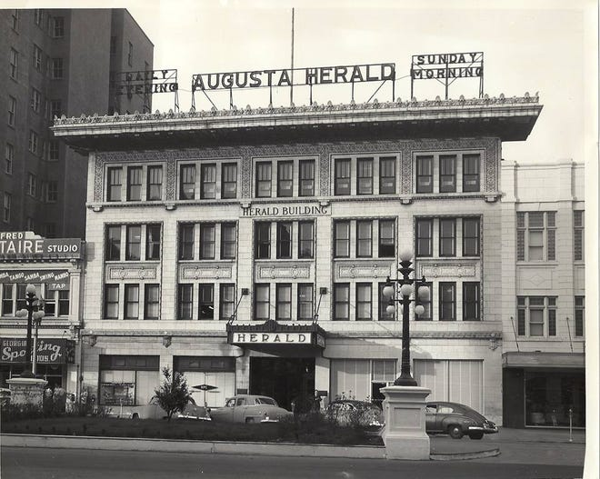 The Augusta Herald Building, which became the News Building, at 725 Broad St.