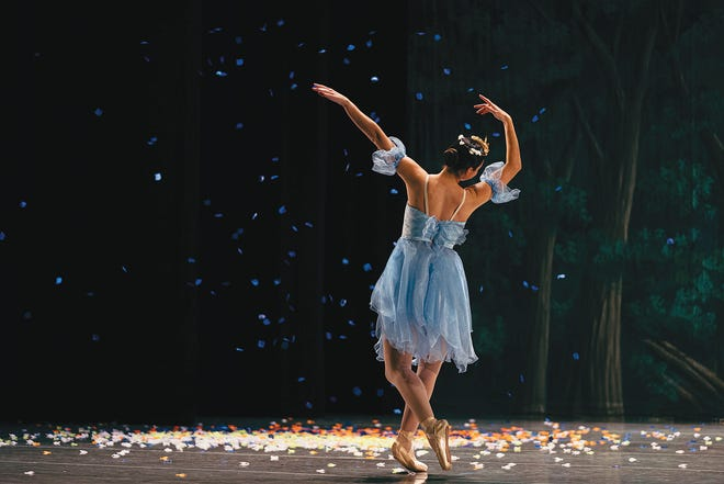"""Morgan Johnson performed as the Winter Fairy in the sold-out performance Saturday of """"Cinderella"""" by the Bartlesville Civic Ballet at the Bartlesville Community Center."""