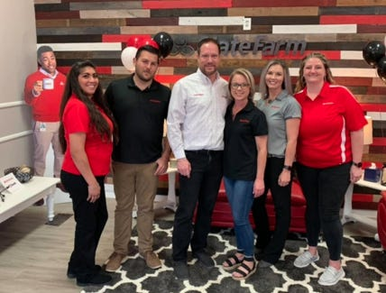 The Early and Brownwood chambers of commerce held a joint ribbon cutting for new member Justin Riggan State Farm.
