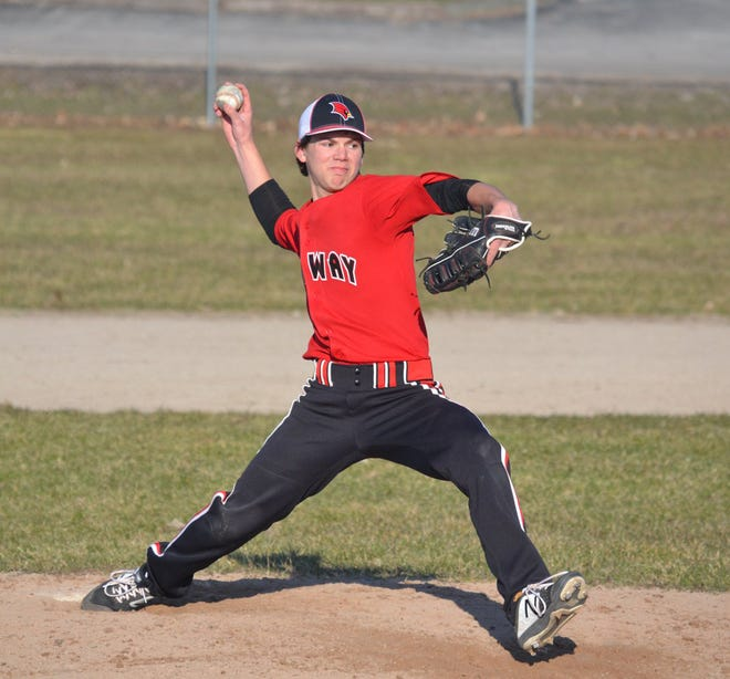 Pitcher Spencer Nash is one of five returning seniors for this year's Onaway varsity baseball team. During the 2019 campaign, the Cardinals captured a school-record 24 victories.