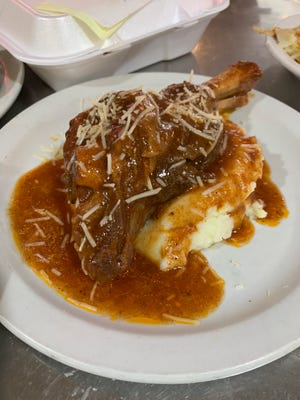 Lamb shank from Tommy's Diner