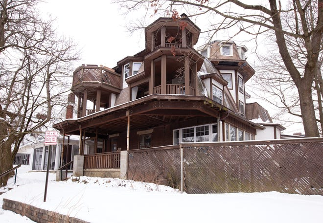 Owner Bob Erickson has been modifying the unique home at the southwest corner of Indianola Avenue and Tibet Road since the early 1970s.