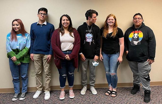 Dodge City High School forensics team of Alicia Santos, Hever Arjon, Olivia Ramos, Bryce Moore, Halle Robinson, Angel Amaro qualified for the National Invitational Tournament of Champions recently.