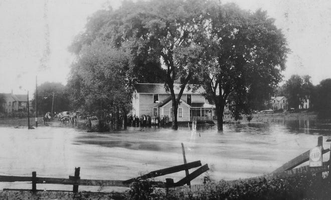 Geneseo Creek floodwaters surround homesite