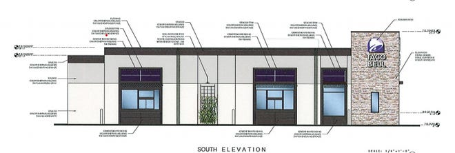 An artist rendering shows plans for a proposed Taco Bell along the FM 1417 corridor