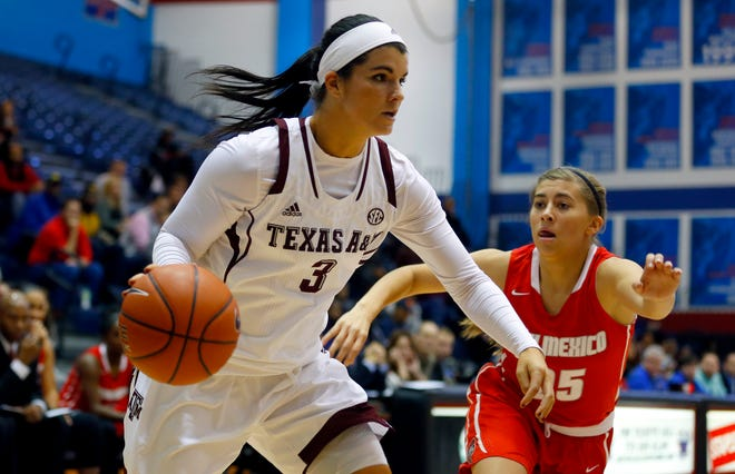 Former Texas A&M forward Taylor Cooper (pictured in 2014) will be the next girls basketball head coach at Kingfisher High School.